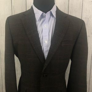 Jos. A. Bank 42R Brown Wool 2-Button Sports Coat